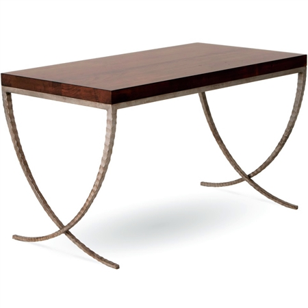 Pictured here is the Talmadge Desk with with Argento Antico  iron finish and Maple top by Charleston Forge.
