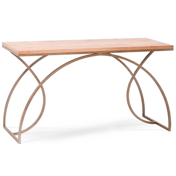 Pictured here is the Monarch desk with Argento Antico iron finish and Maple top by Charleston Forge.
