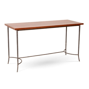 Pictured here is the Hayden Desk with with burnished iron finish and Maple top by Charleston Forge.