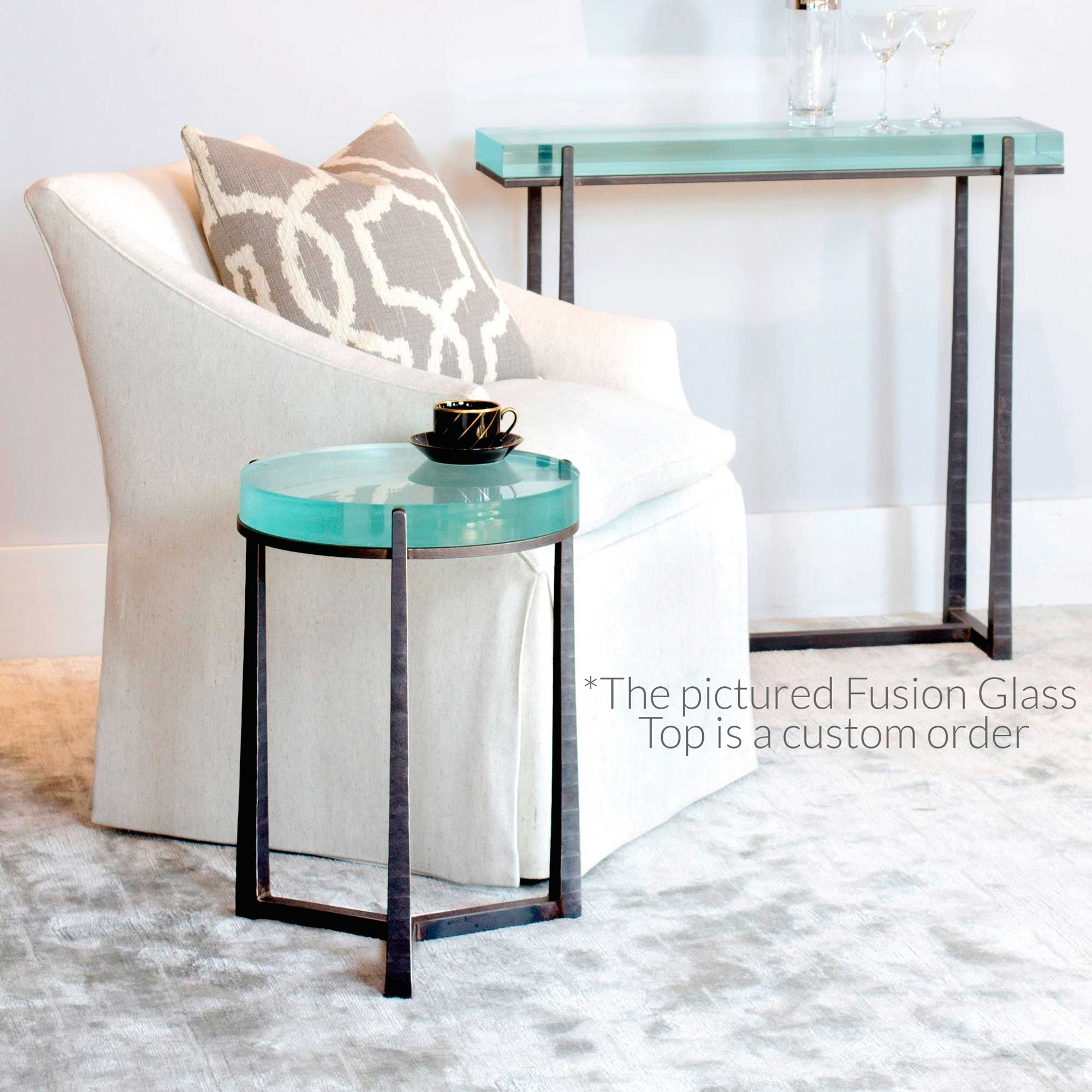 Cooper Round Wrought Iron End Table - Cooper end table