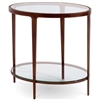 Pictured here is the forged iron Ellipse End Table available in numerous fine iron finishes and table tops to choose from.