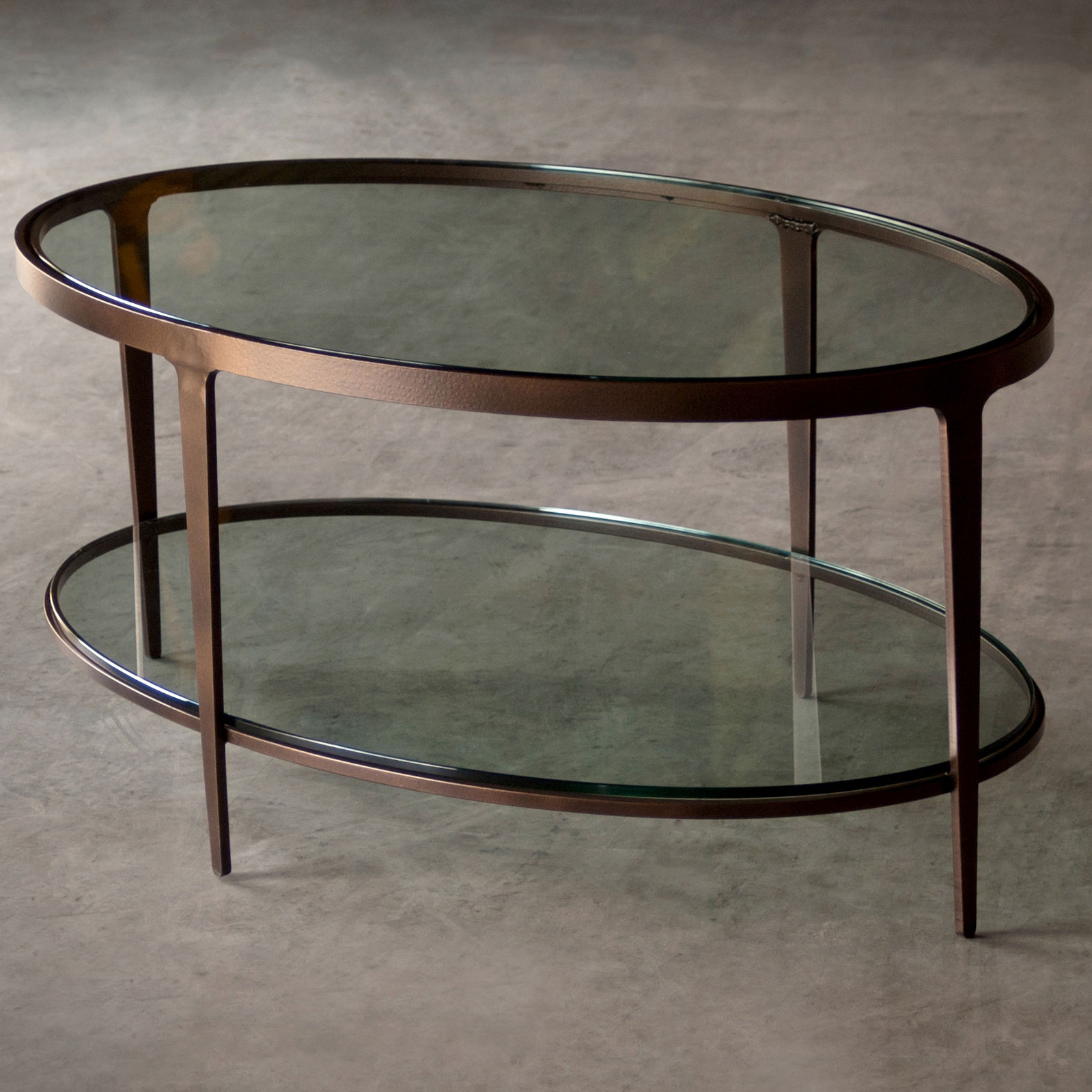 Ellipse Oval Wrought Iron Cocktail Table