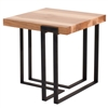 Pictured here is the forged iron Watson End Table available in numerous fine iron finishes and table tops to choose from.