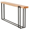 Pictured is the Charleston Forge manufactured Watson Console Table that measures 70.5-in x 9-in x 34.25-in with custom iron finishes and table top options to choose from.