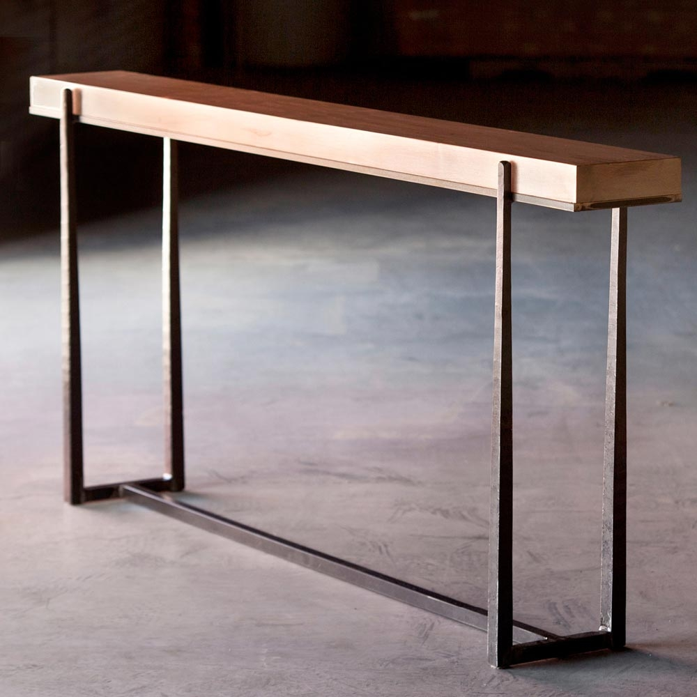 Cooper 70 wrought iron console table charleston forge price 165100 geotapseo Gallery