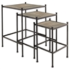 Pictured here is our set of 3 nesting tables, that comes with a slate top and has many custom finish options for you to choose from.