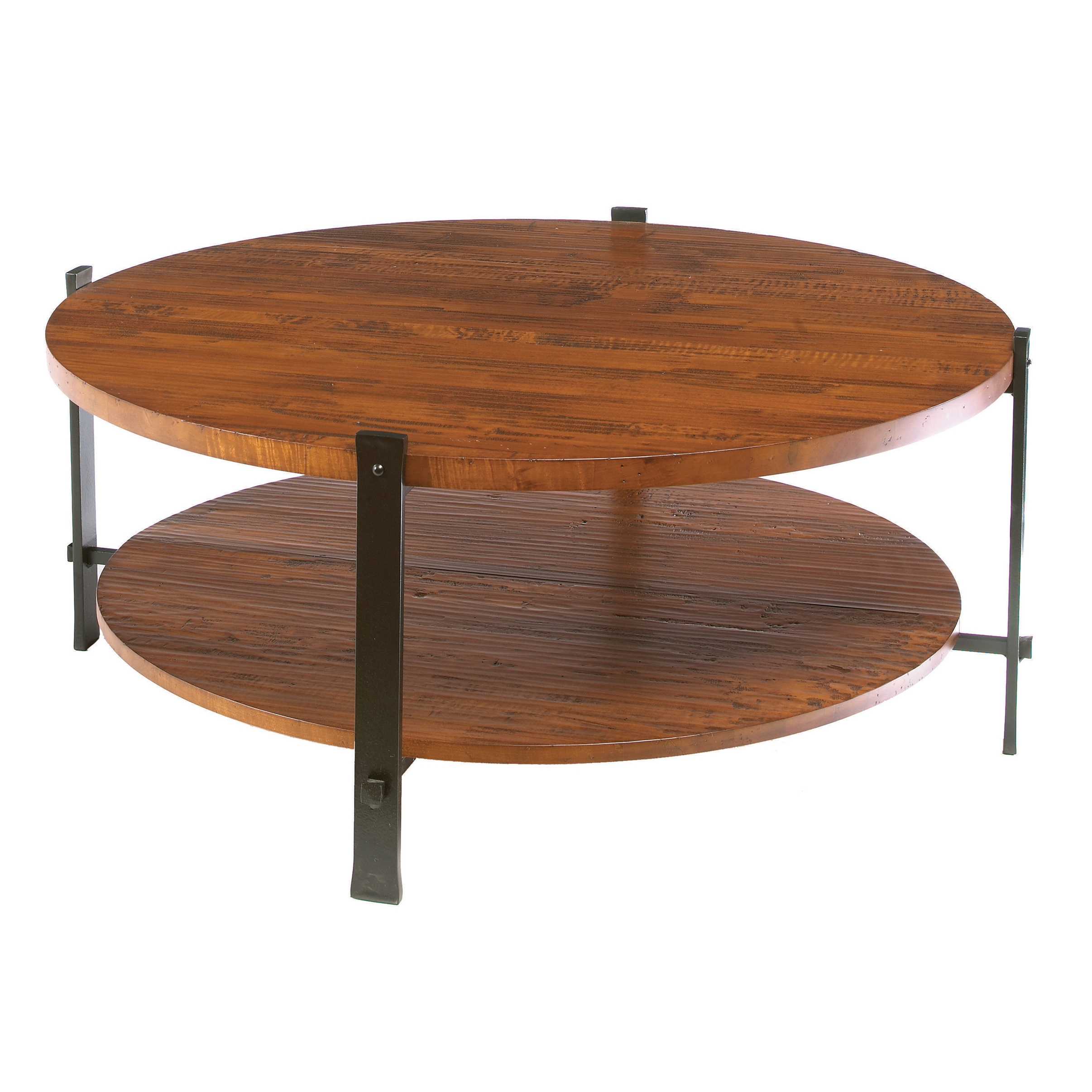 Iron Timber Round Cocktail Table by Charleston Forge