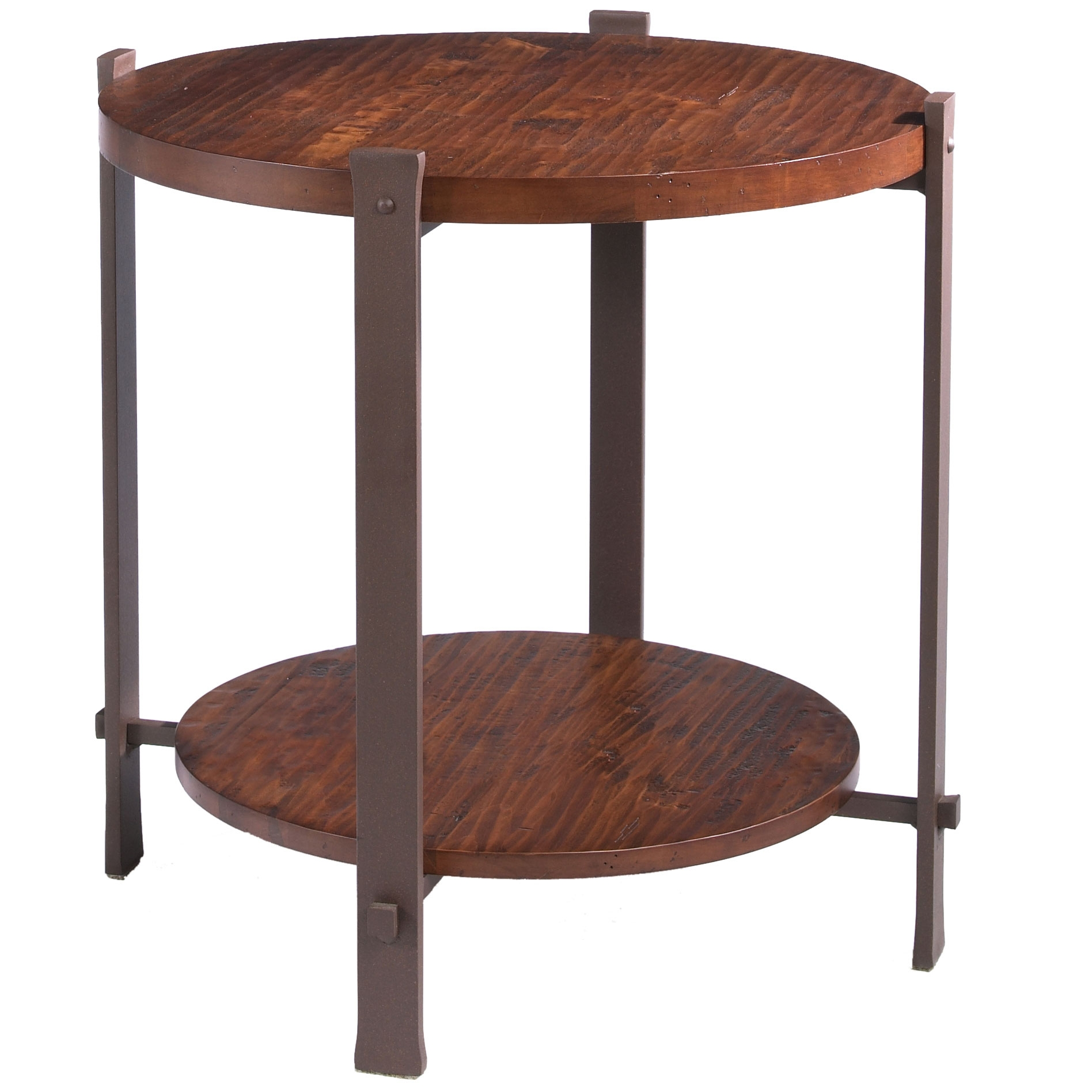 Buy the Timber Round End Table by Charleston Forge line