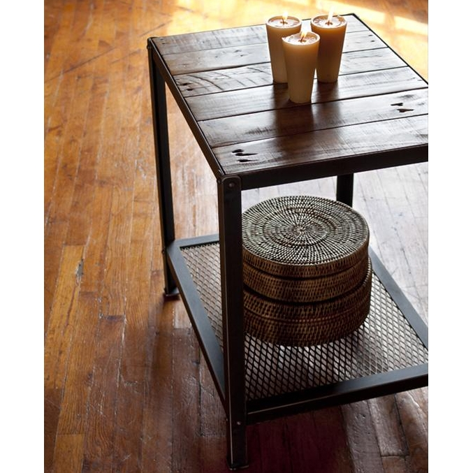Wrought Iron Warehouse End Table Charleston Forge