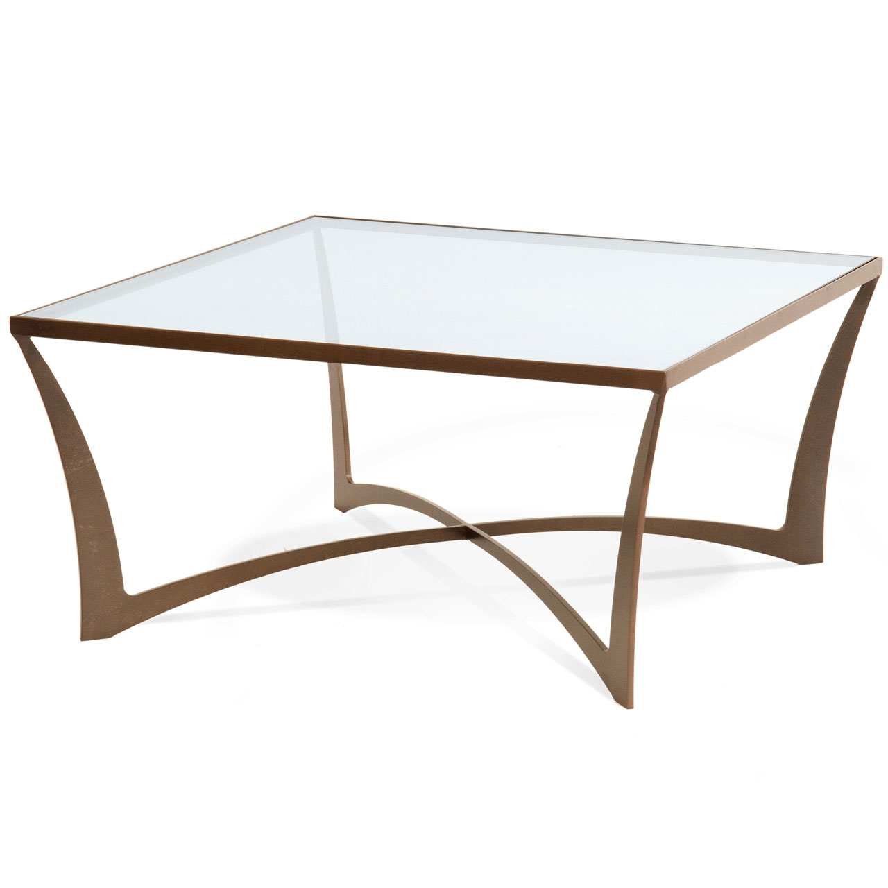 "Lotus 36"" Square Wrought Iron Cocktail Table"