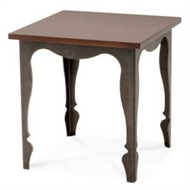 Pictured here is the forged iron Paris End Table available in numerous fine iron finishes and table tops to choose from.
