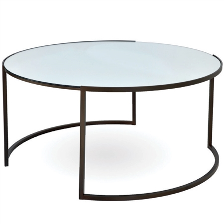 Pictured here is the Taylor Round Cocktail Table manufactured by Charleston Forge.