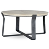 Pictured is the Beaufort 36-in Round Cocktail Table with custom iron finishes and table top options to choose from.