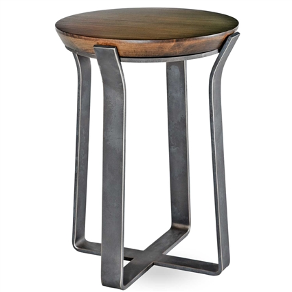 "Pictured is the Beaufort Drink Table hand crafted by the artisans of Charleston Forge, with a variety of fine finishes to choose from.  17"" dia. x 22"" H"
