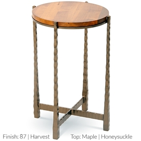 Pictured Is The Nash Round Drink Table Hand Crafted By The Artisans Of  Charleston Forge,
