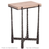 "Pictured is the Nash Rectangular Drink Table hand crafted by the artisans of Charleston Forge, with a variety of fine finishes to choose from.  W 15"" x D 10.5"" x H 22.75"""