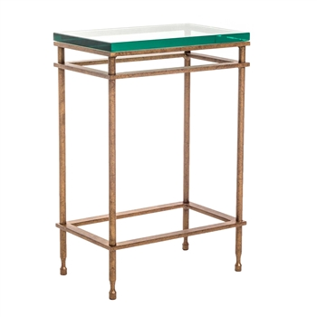"Pictured is the Empire Drink Table hand crafted by the artisans of Charleston Forge, with a variety of fine finishes to choose from.  W 15"" x D 9"" x H 22.25"""