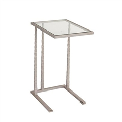 "Pictured is the Canton Drink Table hand crafted by the artisans of Charleston Forge, with a variety of fine finishes to choose from.  W 17"" x D 13.25"" x H 25.5"""