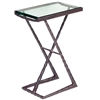 "Pictured is the Metro Drink Table hand crafted by the artisans of Charleston Forge, with a variety of fine finishes to choose from.  W 15.25"" x D 10"" x H 23.75"""