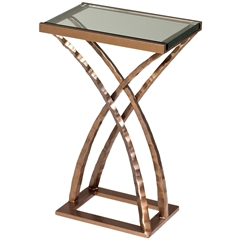 "Pictured is the Quad Drink Table hand crafted by the artisans of Charleston Forge, with a variety of fine finishes to choose from.  W 15"" x D 10.5"" x H 23"""