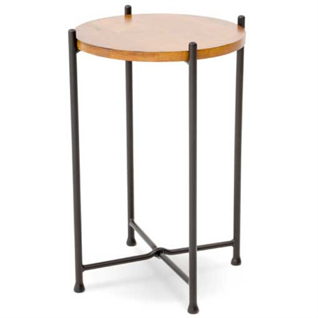 "Pictured is the Medley Drink Table hand crafted by the artisans of Charleston Forge, with a variety of fine finishes to choose from.  15"" dia. x 22"" H"