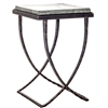 "Pictured is the Talmadge Drink Table hand crafted by the artisans of Charleston Forge, with a variety of fine finishes to choose from.  W 15"" x D 15.5"" x H 23.25"""