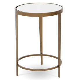 Pictured is the Roundabout Drink Table hand crafted by the artisans of Charleston Forge, with a variety of fine finishes to choose from.