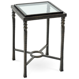 Pictured Is The Omega Drink Table With Glass Table Top From Charleston  Forge. The Solid