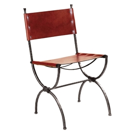 Pictured here is the Legacy Side Chair handcrafted by Charleston Forge. Available in serveral custom finish and seat options.