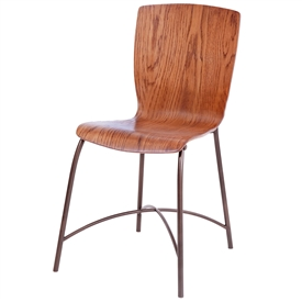 Pictured here is the Merritt Side Chair handcrafted by Charleston Forge. Available in serveral custom finish and seat options.
