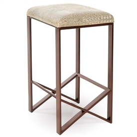 Pictured Here Is The Victoria Backless Bar Stool Quality Hand Forged Construction With Various Iron