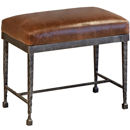Pictured here is the Prague Small Bench which features blacksmith craftsmanship made here in america. Iron Furniture you buy for life. Custom finishes and options for you to choose from that fit your home and style.