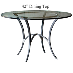 "Pictured is the Ventura 42"" Dining Table with custom iron finish and top options for you to choose. Comfortably seats 4"