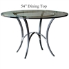 "Pictured is the Ventura 54"" Dining Table with custom iron finish and top options for you to choose. Comfortably seats 6"