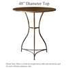 "Pictured is the Savoy 48"" Dining Table with custom iron finish and top options for you to choose. Comfortably seats 4 to 6"
