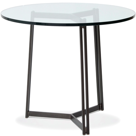 "Pictured is the Kern 54"" Dining Table with custom iron finish and top options for you to choose. Comfortably seats 6"