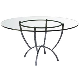 "Pictured is the Hudson 54"" Dining Table with custom iron finish and top options for you to choose. Comfortably seats 6"