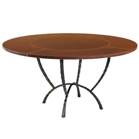 "Pictured is the Hudson 60"" Dining Table with custom iron finish and top options for you to choose. Comfortably seats 8"