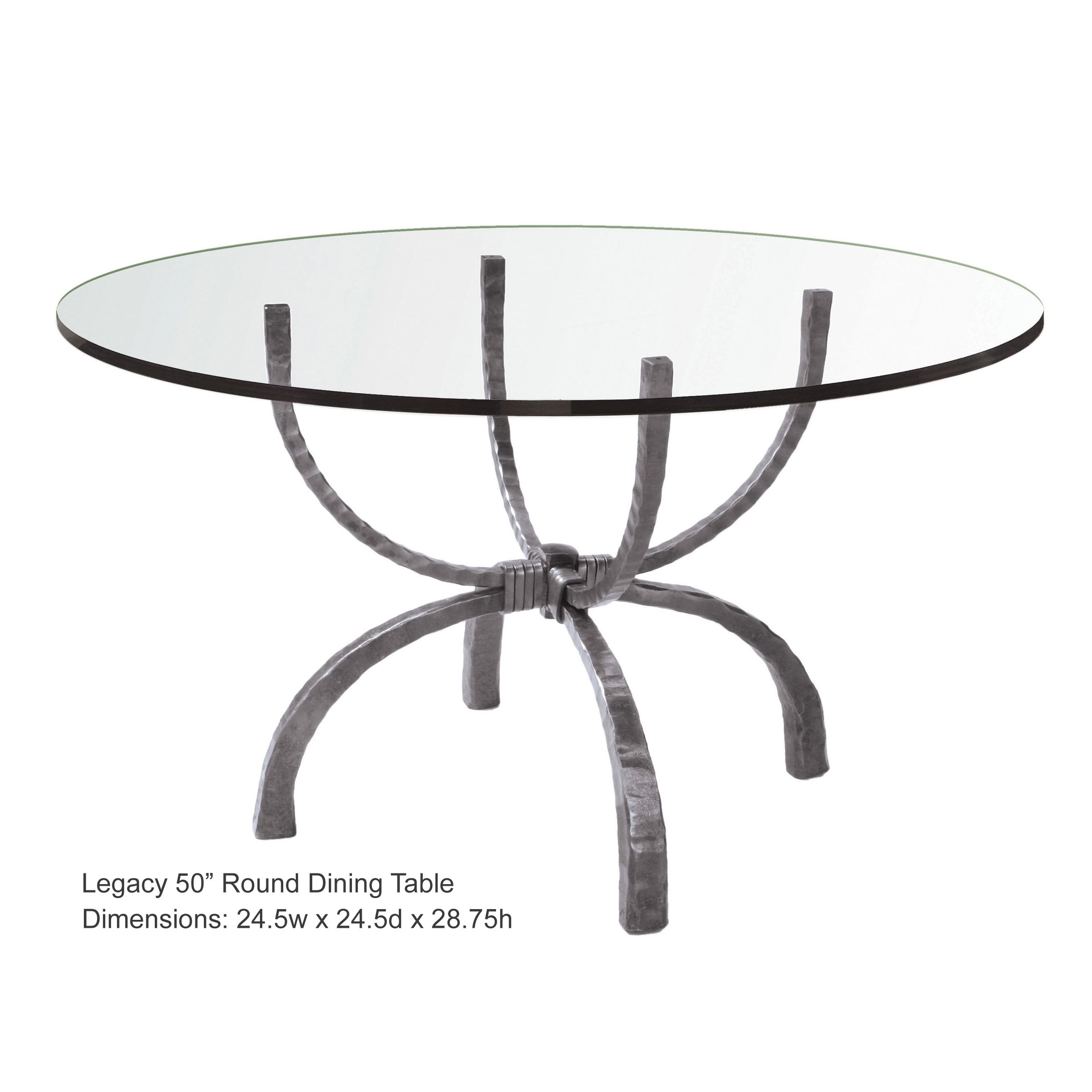 f42da2cf9242 Wrought Iron Legacy 50in Round Dining Table by Charleston Forge