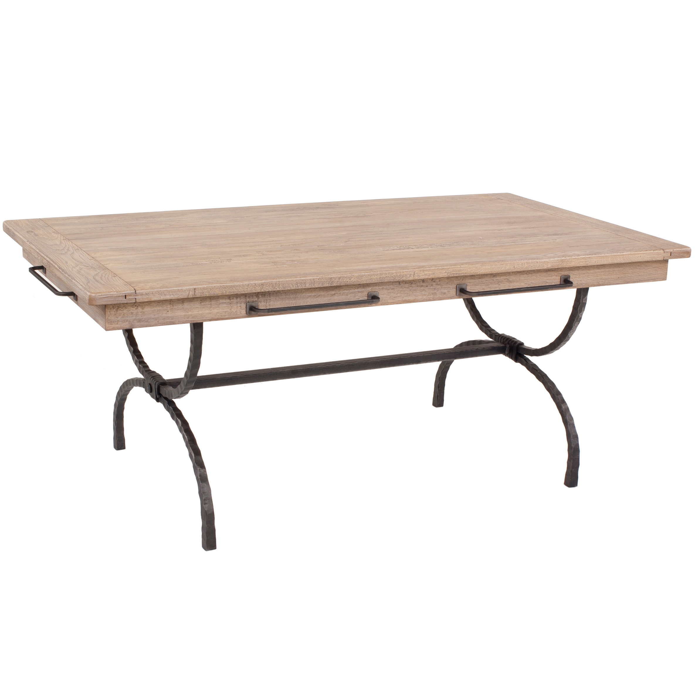 Wrought Iron Legacy Rectangular Dining Table with Napkin Bars ...