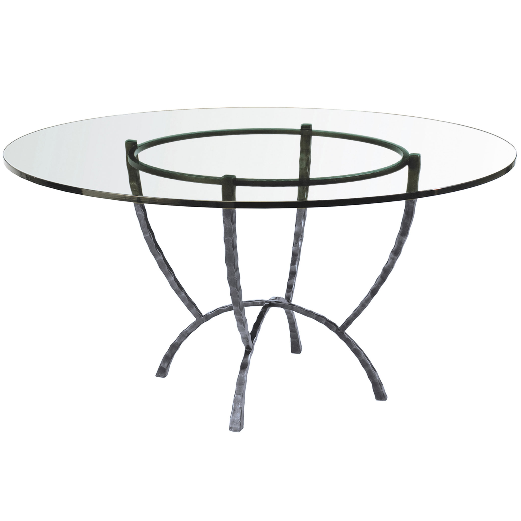"Wrought Iron Hudson 50"" Round Dining Table"