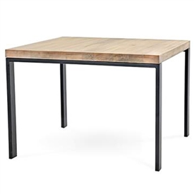 Pictured Is The 42 Inch Square Astor Dining Table With A Clean Modern Style  Iron