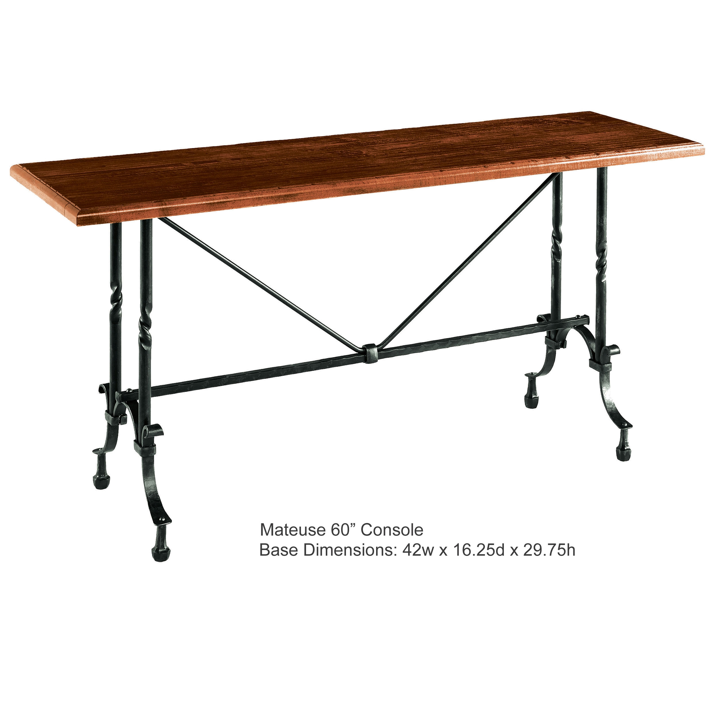Pictured Is The Charleston Forge Manufactured Mateuse Console Table That  Measures 60 In X 16.25