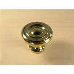 Maryland Solid Brass Knob 1-3/16in diameter Polished Brass by Century Hardware