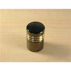 Maryland Solid Brass Knob 3/4in diameter Black Nickel/Pol. Brass by Century Hardware