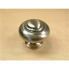 "Classique Solid Brass Knob, 1-1/4"" diameter Polished Brass"
