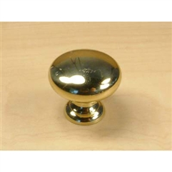 "Classique Solid Brass, Knob, 1-1/4"" diameter Polished Brass by Century Hardware"