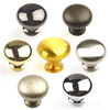 Saturn Hollow Brass Mushroom Knob 1.1/4in diameter by Century Hardware