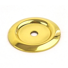 Saturn Solid Brass BackPlate 1-1/4in diameter Polished Brass by Century Hardware
