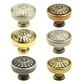 "Hartford Solid Brass, Knob, 1-1/4"" diameter by Century Hardware"